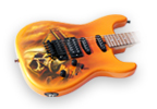Airbrushed Art and Guitar Painted with House of Kolors Sunset Orange